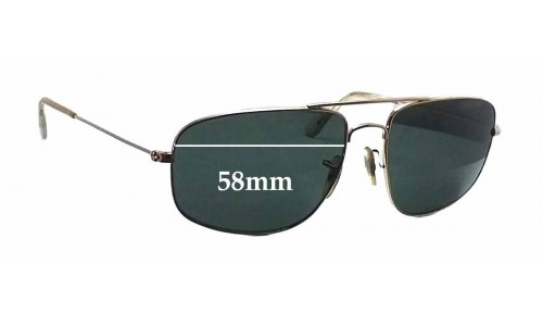 Ray Ban RB3145 Replacement Sunglass Lenses - 58mm wide