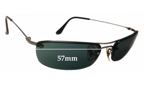 Ray Ban RB3156 Replacement Sunglass Lenses - 57mm Wide - 30mm Tall