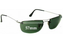 Ray Ban RB3156 Replacement Sunglass Lenses - 57mm Wide - 35mm Tall