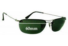 Sunglass Fix Replacement Lenses for Ray Ban RB3156 - 60mm Wide (not 57mm)