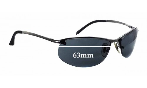 Sunglass Fix Replacement Lenses for Ray Ban RB3179 - 63mm Wide