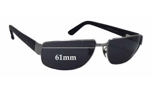 Sunglass Fix Replacement Lenses for Ray Ban RB3189 Leather II - 61mm wide
