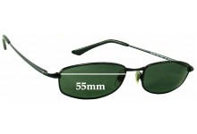 Ray Ban RB3198 New Sleek Replacement Sunglass Lenses - 55mm wide