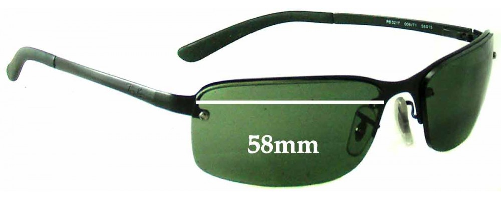 293bb2e3ac Ray Ban RB3217 Replacement Lenses - 58mm Wide