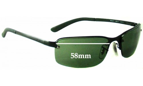 Ray Ban RB3217 Replacement Sunglass Lenses - 58mm Wide
