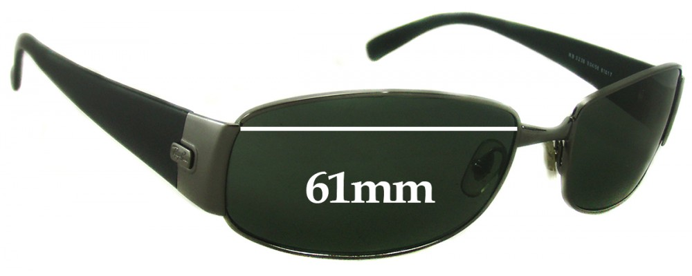 Ray Ban RB3238 Replacement Sunglass Lenses - 61mm Wide