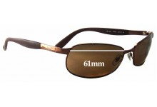 Ray Ban RB3245 Replacement Sunglass Lenses - 61mm wide