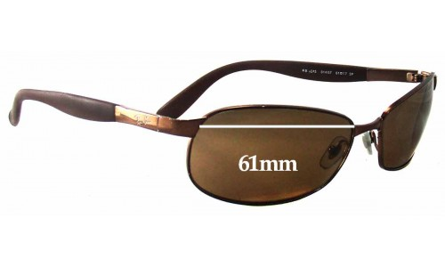 Sunglass Fix Replacement Lenses for Ray Ban RB3245 - 61mm wide