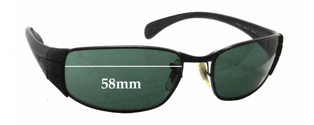 Ray Ban RB3261 Replacement Sunglass Lenses - 58mm wide