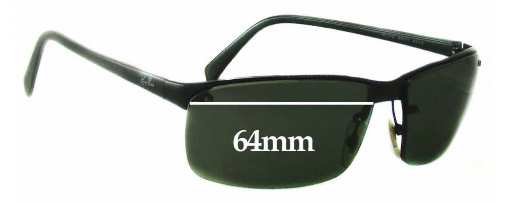 Ray Ban RB3276 Replacement Sunglass Lenses - 64mm Wide