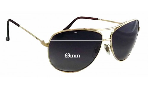 Ray Ban RB3293 Replacement Sunglass Lenses - 63mm Wide