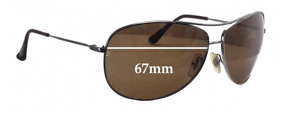 2ca748f899 Ray Ban Aviators RB3293 Replacement Sunglass Lenses - 67mm wide