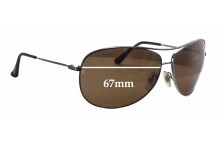Ray Ban Aviators RB3293 Replacement Sunglass Lenses - 67mm wide