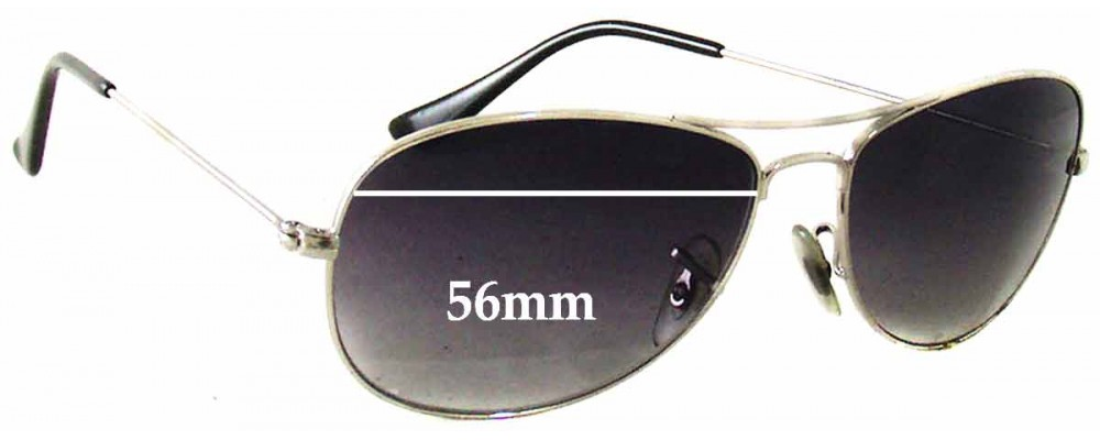 1f2e55e35ec Ray Ban Cockpit RB3362 Replacement Lenses - 56mm wide