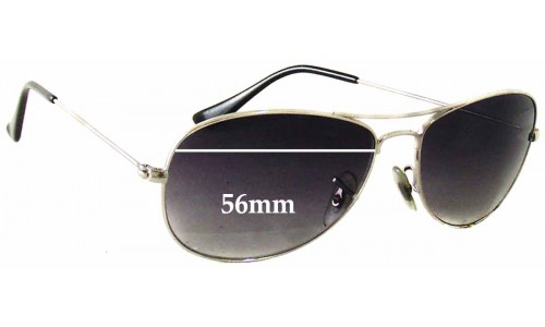 Ray Ban Cockpit RB3362 Replacement Sunglass Lenses - 56mm wide