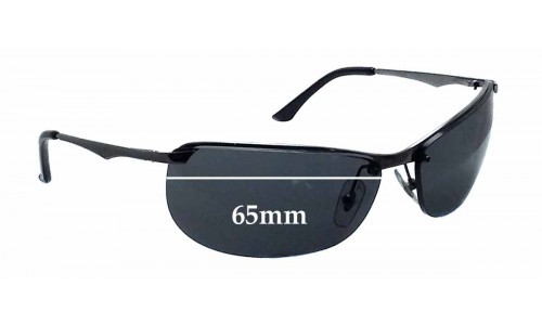 Ray Ban RB3390 Gaskets Replacement Sunglass Lenses - 65mm wide *These lenses are with the 2 holes at the same size*