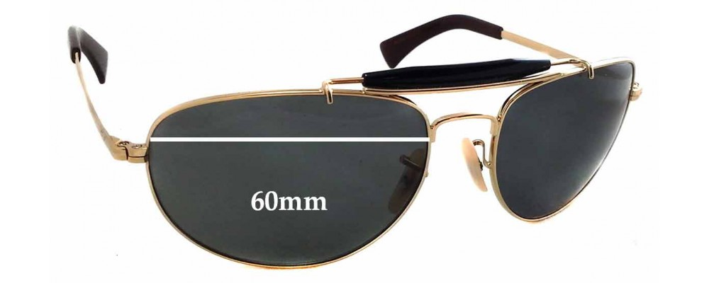 459416d453 Ray Ban RB3423 Replacement Sunglass Lenses - 60mm wide - 44mm tall
