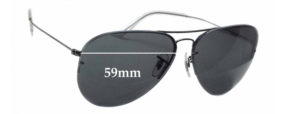 5b7af9c6d92f Ray Ban RB3460 Replacement Lenses - 59mm wide