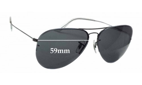 Ray Ban RB3460 Replacement Sunglass Lenses - 59mm wide