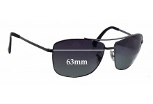 Ray Ban RB3476 Replacement Sunglass Lenses - 63mm wide