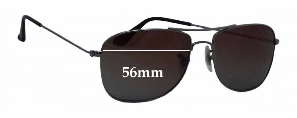 Ray Ban RB3477 Replacement Sunglass Lenses - 56mm wide
