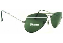 Sunglass Fix Replacement Lenses for Ray Ban RB3479 Folding Aviator - 58mm Wide