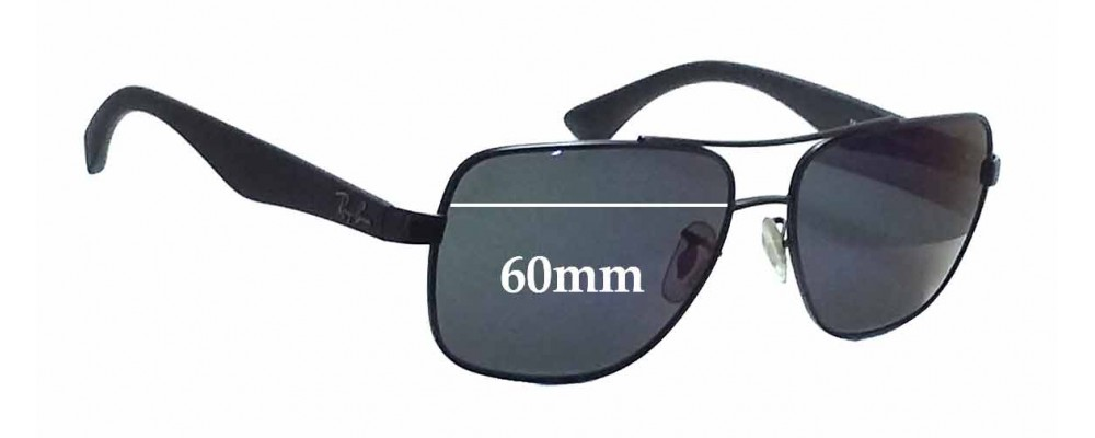 rb3483  Ban RB3483 Replacement Sunglass Lenses - 60mm Wide