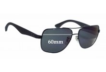 Ray Ban RB3483 Replacement Sunglass Lenses - 60mm Wide