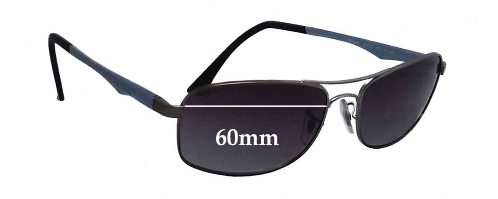 Ray Ban RB3484 Replacement Sunglass Lenses - 60mm wide