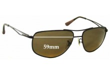 Ray Ban RB3490 Replacement Sunglass Lenses - 59mm wide