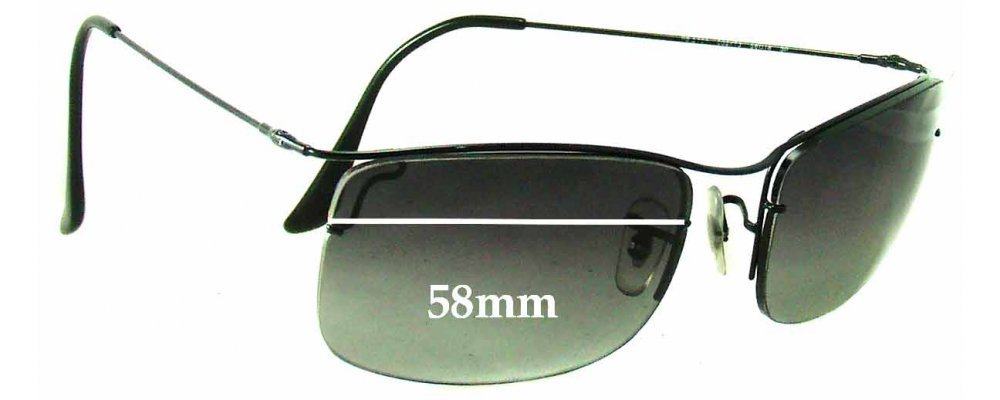 Ray Ban RB3499 Replacement Sunglass Lenses - 58mm Wide