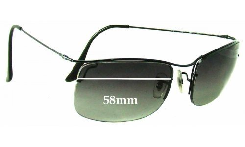 Ray Ban RB3499 New Sunglass Lenses - 58mm Wide