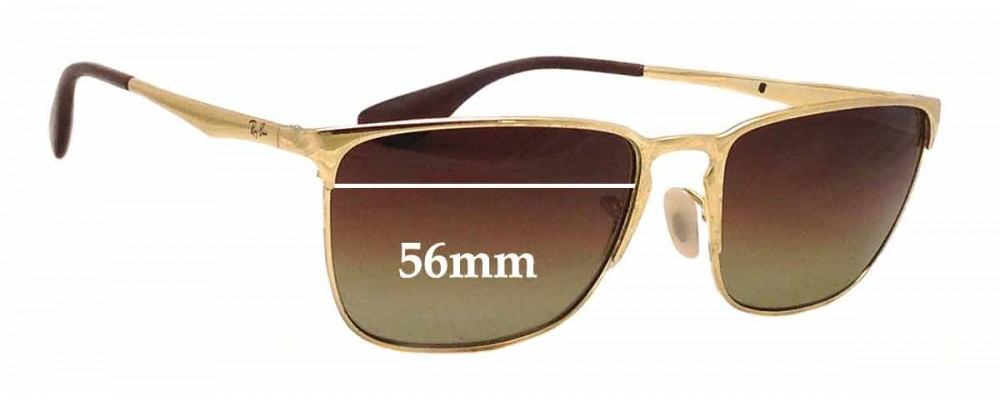 217f4cefdeb Ray Ban RB3508 Replacement Sunglass Lenses - 56mm wide
