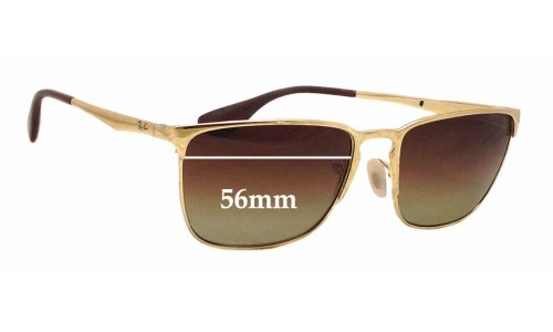 Ray Ban RB3508 Replacement Sunglass Lenses - 56mm wide