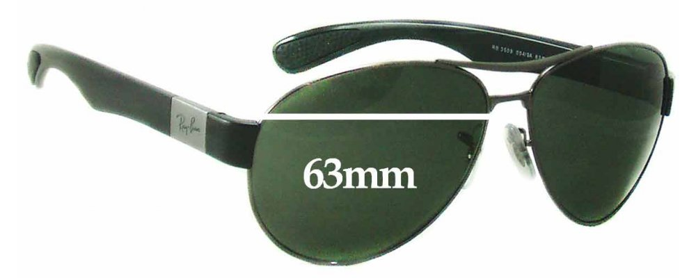 ray ban sunglasses glass replacement  ray ban rb3509 replacement sunglass lenses 63mm wide