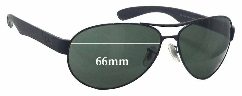 ea3bbce220 Ray Ban RB3509 Replacement Sunglass Lenses - 66mm wide