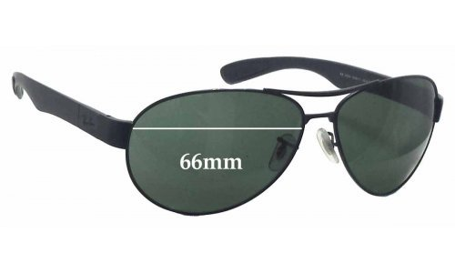 Sunglass Fix Replacement Lenses for Ray Ban RB3509 - 66mm wide
