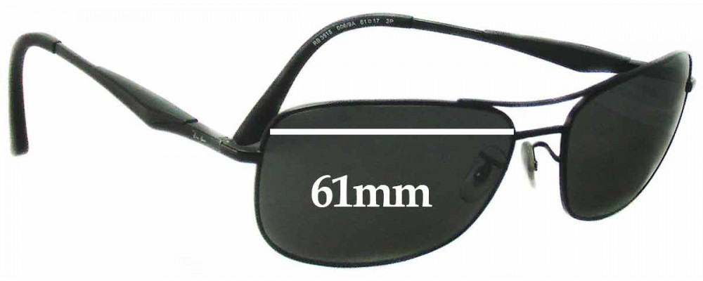 a9675a62fec Ray Ban RB3515 Replacement Lenses - 61mm Wide