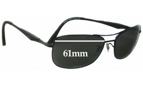 Ray Ban RB3515 Replacement Sunglass Lenses - 61mm Wide