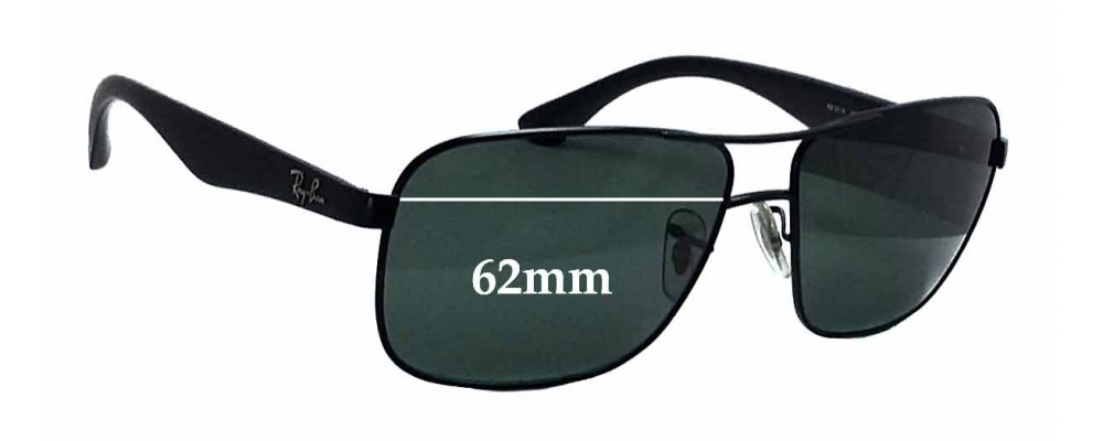 Ray Ban RB3516 Replacement Sunglass Lenses - 62mm wide