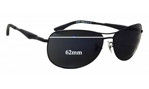 Ray Ban RB3519 Replacement Sunglass Lenses - 62mm wide