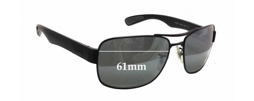6e4f664e73 Sunglass Fix Replacement Lenses for Ray Ban RB3522 - 61mm wide x 43mm tall