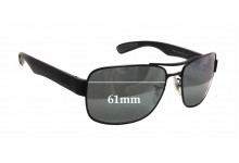Ray Ban RB3522 Replacement Sunglass Lenses - 61mm wide x 43mm tall