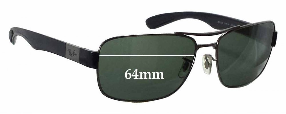 a5cde8a7c5a2 Sunglass Fix Replacement Lenses for Ray Ban RB3522 - 64mm wide