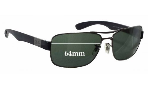 Sunglass Fix Replacement Lenses for Ray Ban RB3522 - 64mm wide