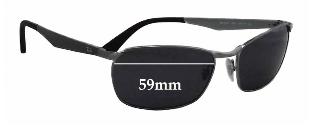 Ray Ban RB3534 Replacement Sunglass Lenses - 59mm wide