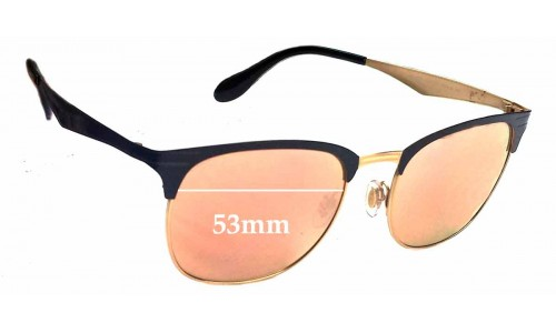 Ray Ban RB3538 Replacement Sunglass Lenses - 53mm wide