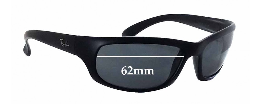 Ray Ban RB4037 Replacement Sunglass Lenses - 62mm wide