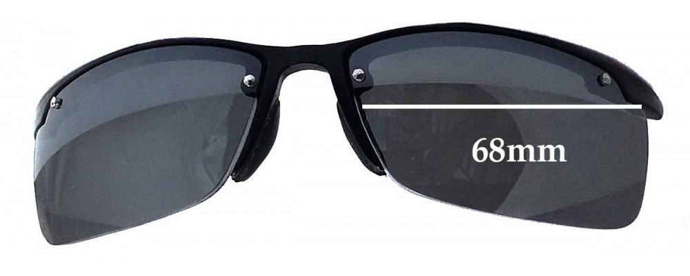 Ray Ban RB4056 Replacement Sunglass Lenses - 68mm wide