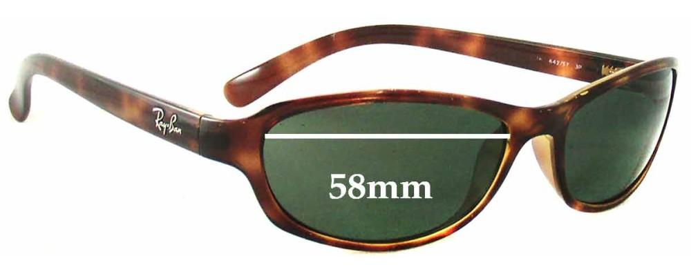 beb77805c35 Ray Ban Predator Sunglasses Size